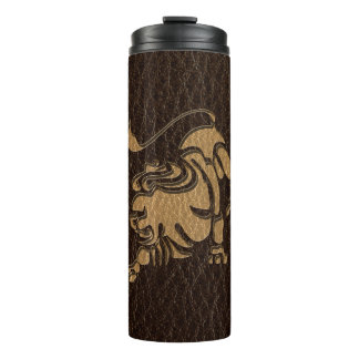 Leather-Look Leo Thermal Tumbler