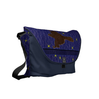Leather-Look Native American Zodiac Falcon Commuter Bag
