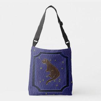 Leather-Look Native American Zodiac Otter Crossbody Bag