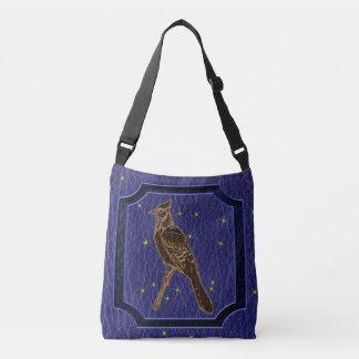 Leather-Look Native American Zodiac Woodpecker Crossbody Bag