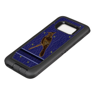 Leather-Look Native American Zodiac Woodpecker OtterBox Defender Samsung Galaxy S8 Case