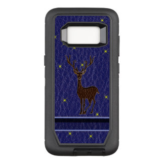 Leather-Look Native Zodiac Deer OtterBox Defender Samsung Galaxy S8 Case