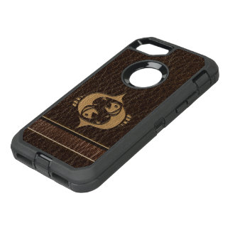 Leather-Look Pisces OtterBox Defender iPhone 8/7 Case