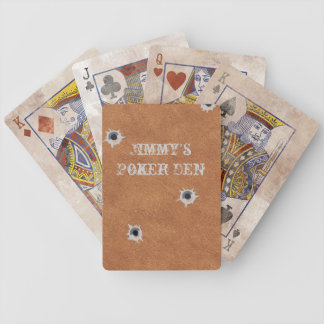 Leather Look Poker Playing Cards