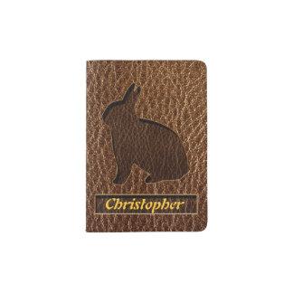 Leather-Look Rabbit Passport Holder