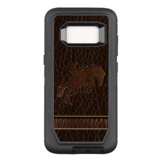 Leather-Look Rodeo Dark OtterBox Defender Samsung Galaxy S8 Case