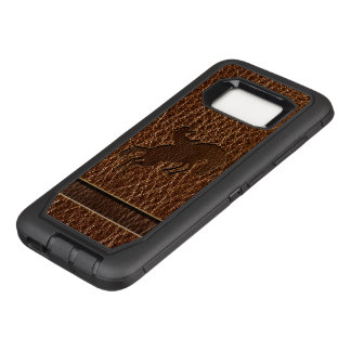Leather-Look Rodeo OtterBox Defender Samsung Galaxy S8 Case