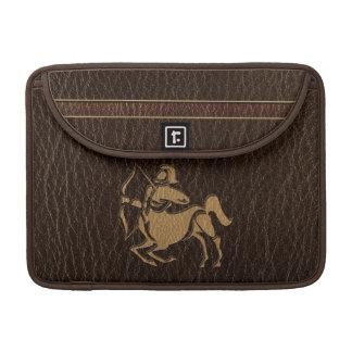 Leather-Look Sagittarius Sleeve For MacBooks