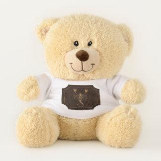 Leather-Look Scorpio Teddy Bear