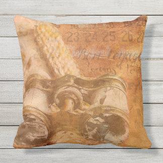 LEATHER LOOK STEAM-PUNK throw cushion
