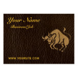 Leather-Look Taurus Pack Of Chubby Business Cards