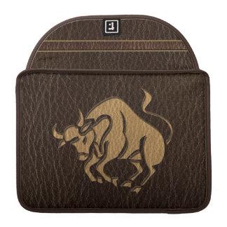 Leather-Look Taurus Sleeve For MacBook Pro