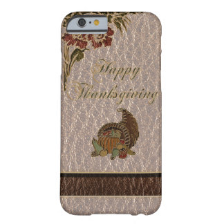 Leather-Look Thanksgiving 1 Barely There iPhone 6 Case