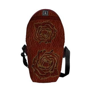 Leather-Look Valentine Rose Messenger Bag