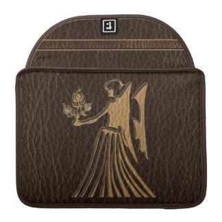 Leather-Look Virgo MacBook Pro Sleeves