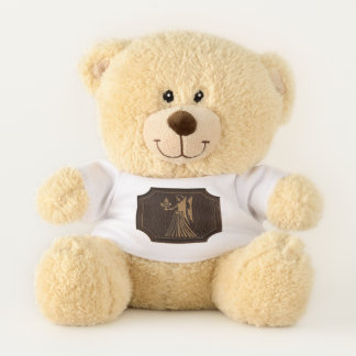 Leather-Look Virgo Teddy Bear