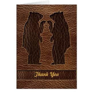 Leather-Look Wedding Card