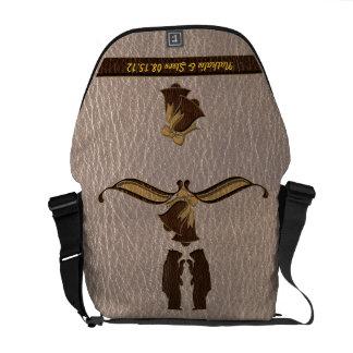 Leather-Look Wedding Soft Messenger Bag