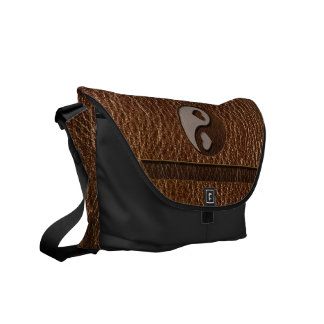 Leather-Look Yin Yang Heart Commuter Bag