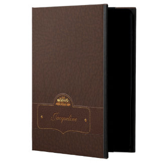 Leather Luxury Name iPad Air case