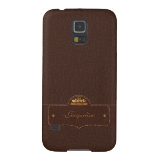 Leather Luxury Name Samsung Galaxy S5 Case