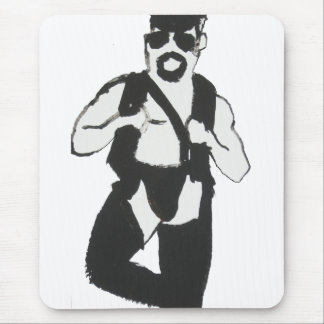 Leather Man Mouse Pad