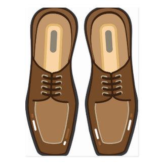 Leather Man's shoes Postcard