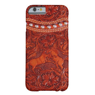 leather mustangs with silver beading iPhone 6 case Barely There iPhone 6 Case