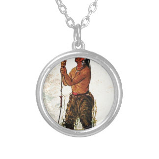 Leather pants Indian Silver Plated Necklace