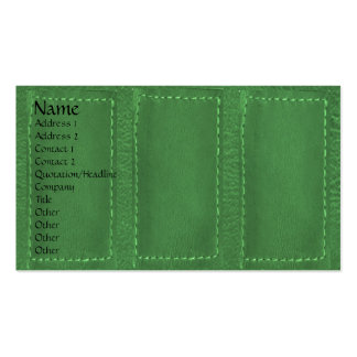 Leather Patchwork Looke :   Designer COWBOYS Business Card Template