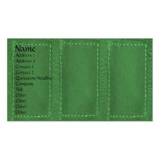 Leather Patchwork Looke :   Designer COWBOYS Pack Of Standard Business Cards