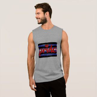 LEATHER PRIDE CALLIGRAPHY - PAINTED LEATER PRIDE F SLEEVELESS SHIRT