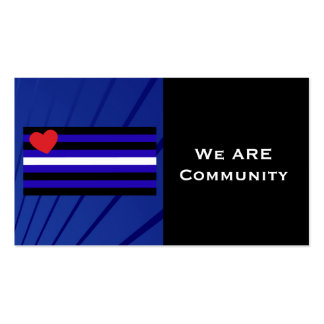 Leather Pride Flag Community Card Business Card