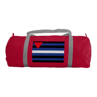 LEATHER QUEER PRIDE FLAG GYM DUFFEL BAG