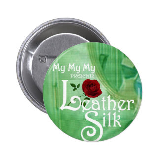 Leather Silk Cover 6 Cm Round Badge