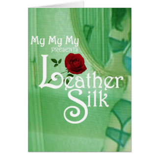 Leather Silk Cover Greeting Card