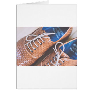 Leather Snakeskin Brown shoes Card
