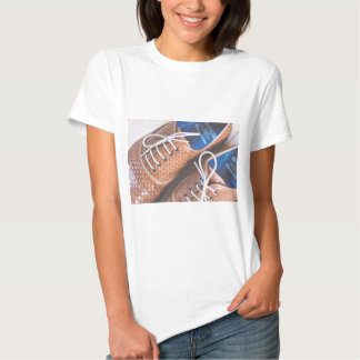 Leather Snakeskin Brown shoes Shirt