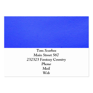 leather structure,blue pack of chubby business cards