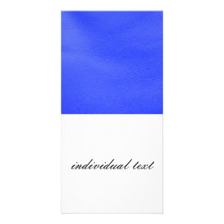 leather structure,blue customized photo card