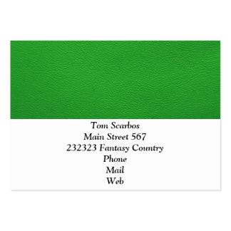 leather structure,green pack of chubby business cards