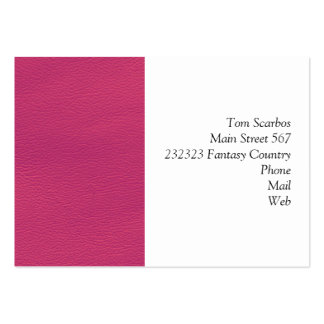 leather structure,hot pink pack of chubby business cards