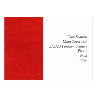 leather structure,red pack of chubby business cards