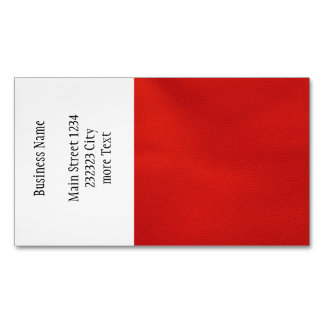 leather structure,red magnetic business cards