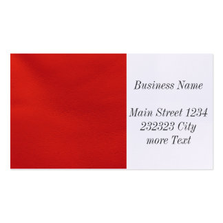 leather structure,red pack of standard business cards