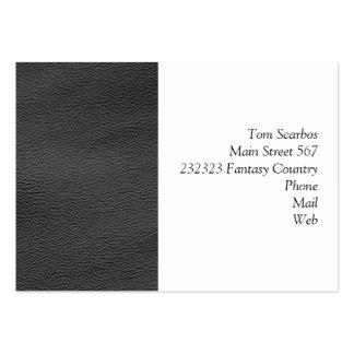 leather structure,silver pack of chubby business cards