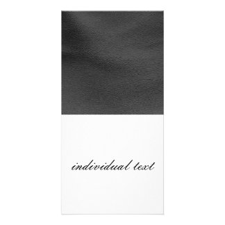 leather structure,silver picture card