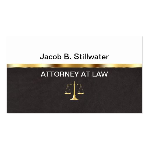 Leather Style Attorney Business Cards