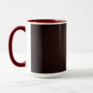 Leather style in  wine color mug