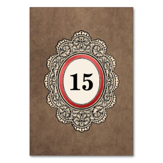 Leather-style Vertical Wedding Card